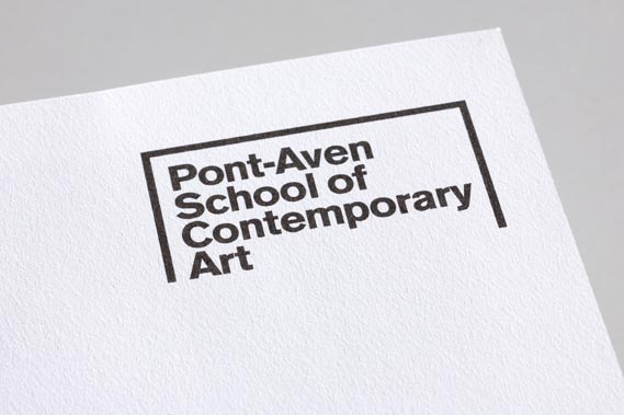 Identity for the Pont-Aven School of Contemporary Art in Brittany - France, 2008. Designer: Rami Moghadam.