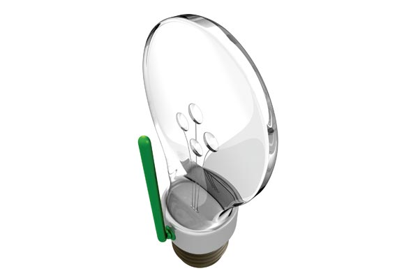 CP+B's design for a led Wi-Fi light bulb - Produced by the agency's in-house design team, it is both environmentally friendly and contains a Wi-Fi repeater. The product is under licensing agreement and will launch this spring.