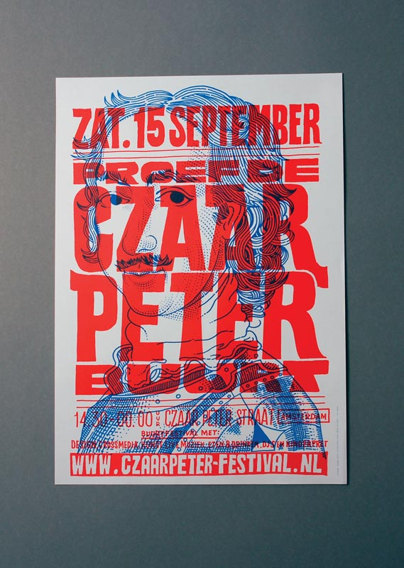 Promotional Material - In collaboration with Yvo Sprey (yvosprey.com), promotional material for a 2007 local festival in the 'de Czaar Peter buurt' area in the east of Amsterdam.