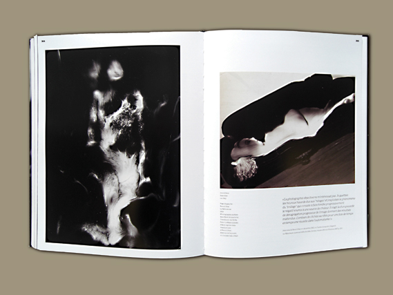 Spread from La Subversion des Images - Featuring La Nébuleuse by Raoul Ubac, 1939 (left) and an untitled work by David Hare, ca.1942 (right)