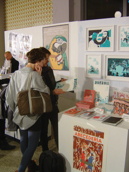 Nobrow's stand - The Nobrow stand at Illustrative, Germany's annual festival of illustration and graphic design