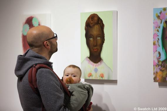 A child oblivious to Erik Sandberg's Hairy Children series - Photography: © Swatch Ltd 2009