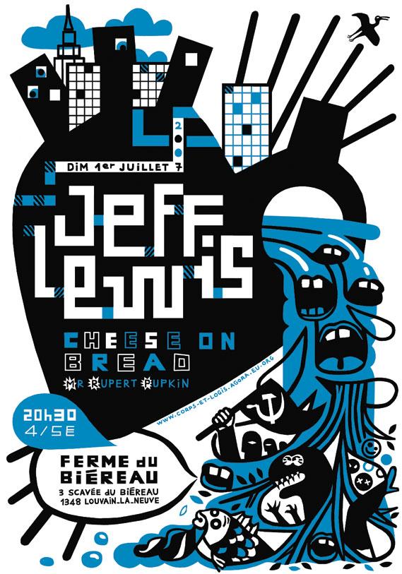 Concert poster - Serigraph poster for a concert in Louvain-la-Neuve, Belgium