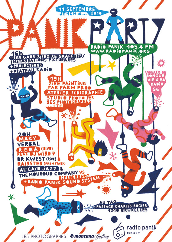 Radio Panik - Poster for an event for Belgian radio station Radio Panik, 2010