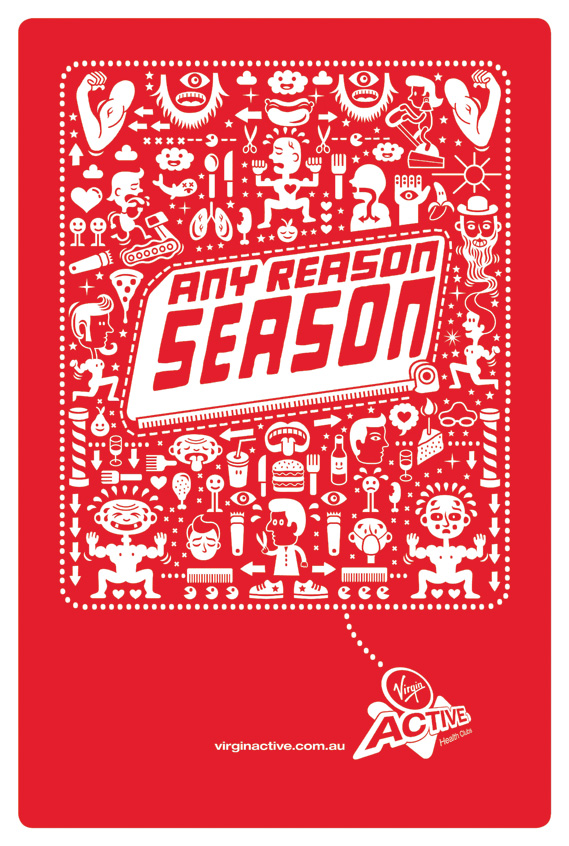 Any reason season - Any Reason Season for Virgin Active, illustrated by Serge Seidlitz (3 of 4)