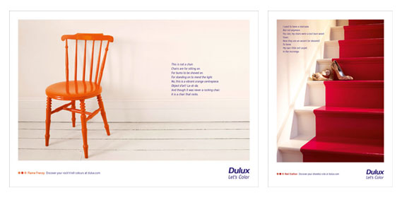 Let's Colour press and print ads - These press and poster ads from the campaign encourage people  to consider bold use of colour in their homes