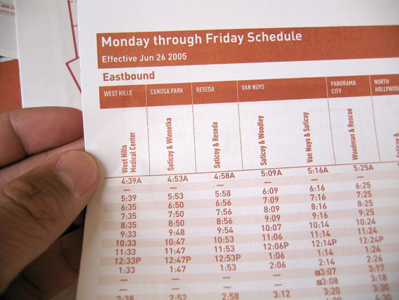 A refreshed Metro timetable