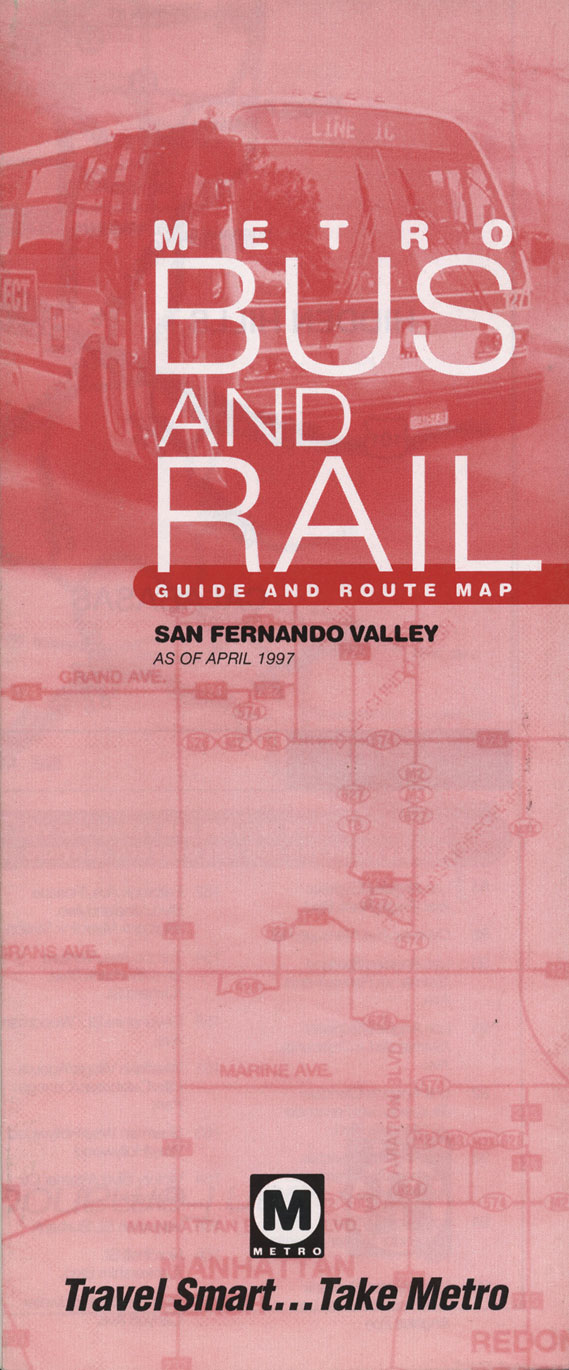 A travel guide from before the LA Metro's design overhaul