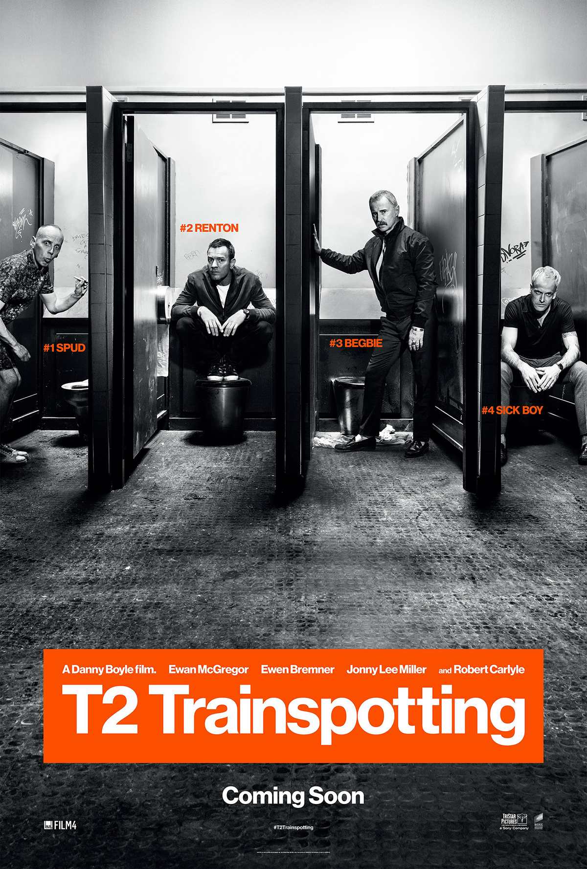 Posters for T2 Trainspotting reference the original 1996 campaign