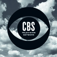 The CBS logo on TV