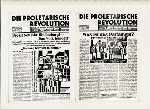 Die Proletarische Revolution - Illustrations for the socialist union magazine Die Proletarische Revolution, 1928
