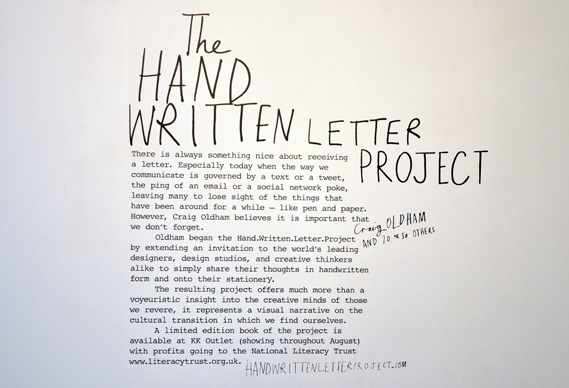 Exhibition Handwrittenletterproject Creative Review