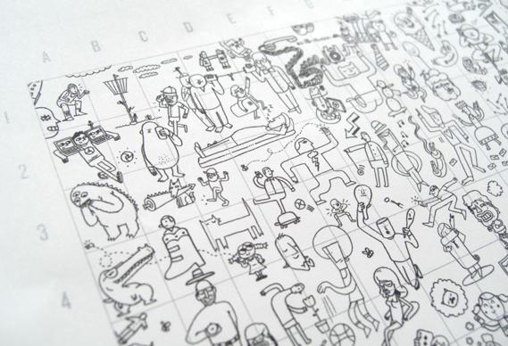 cimg7422_0.jpg - Three days + 16 illustrators = 3,750 drawings - 3765