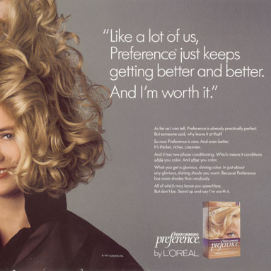 Because I'm Worth It - How L'Oreal's logo was coined