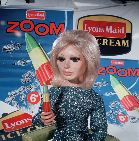 Lady Penelope promoting  Zoom, a rocket shaped ice  lolly by Lyons Maid (1965)