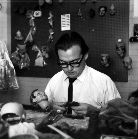 Puppeteer hard at work on the pioneering marionettes (1965)