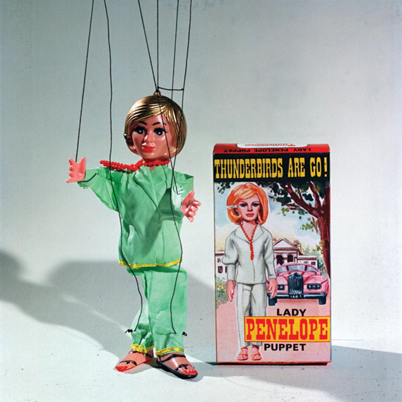 Example of merchandise  from the 60s: Lady Penelope puppet (1965)