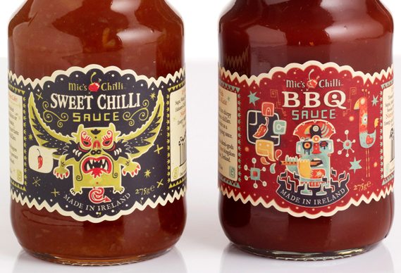 subject_569_image_0.jpg - Steve Simpson's illustrated chilli sauce bottles - 4336