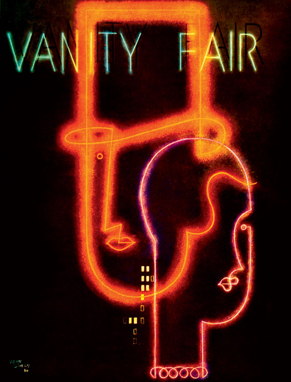 Cover of Vanity Fair, art directed by Mehemed Fehmy Agha between 1929-1936 and published by Condé Nast Publications