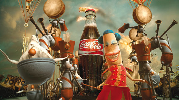 Happiness Factory for Coke from 2006 by W+K Amsterdam