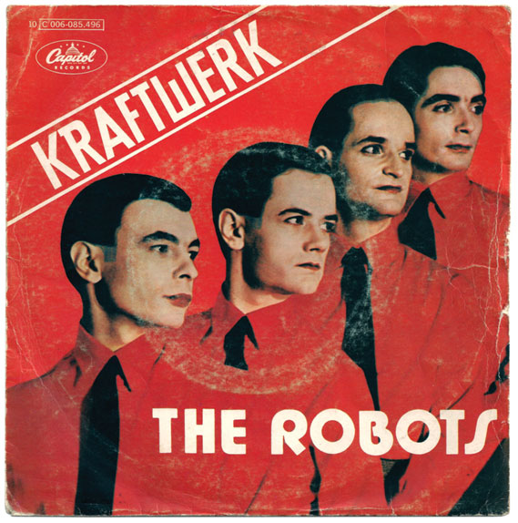 Another single sleeve, featured in The Vinyl Factory's Kraftwerk 45RPM