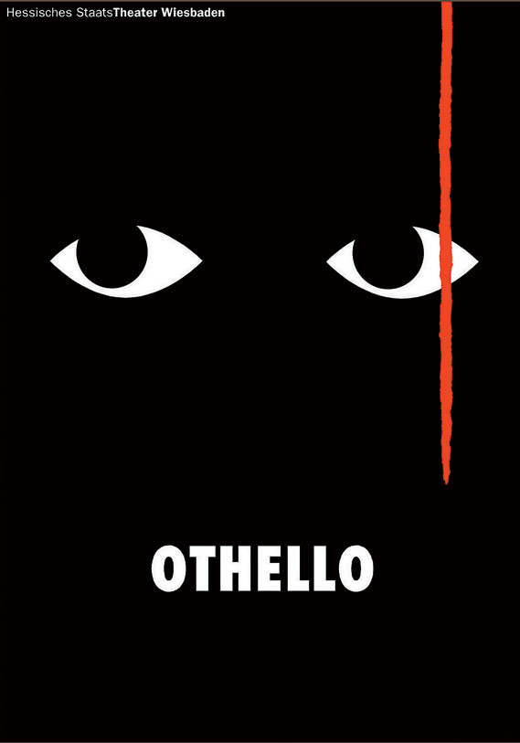 Poster by Gunter Rambow for Hessisches Staatstheater's production of Othello in 1999