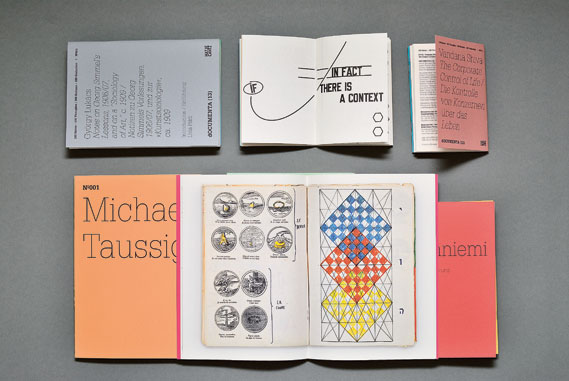 Booklets from studio LeftLoft's 100 Notes – 100 Thoughts series created for the Documenta Festival, 2011–2012