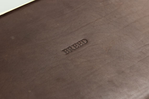 One of Breed's embossed leather portfolios