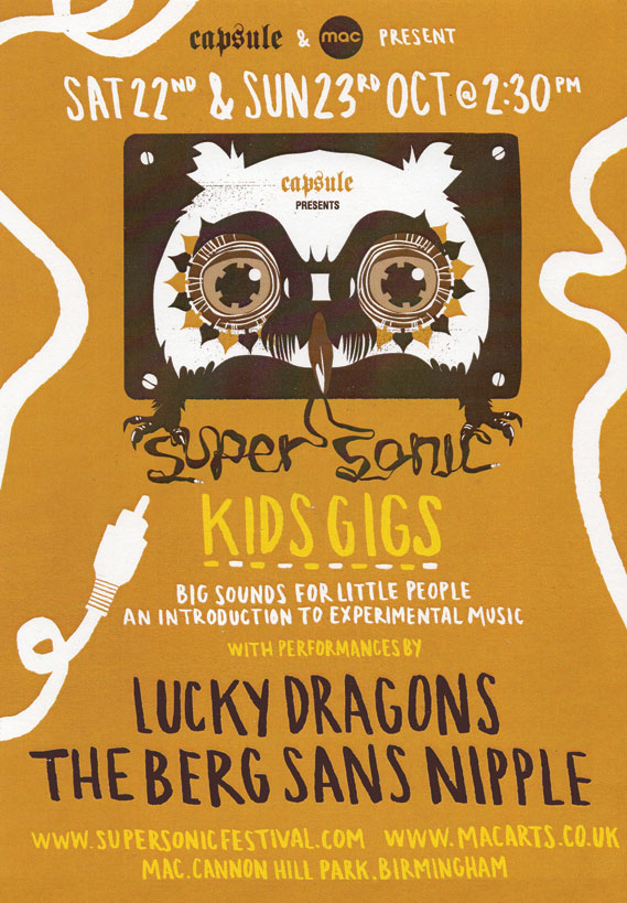 Supersonic Kids Gigs poster, 2011 by Heavy Object