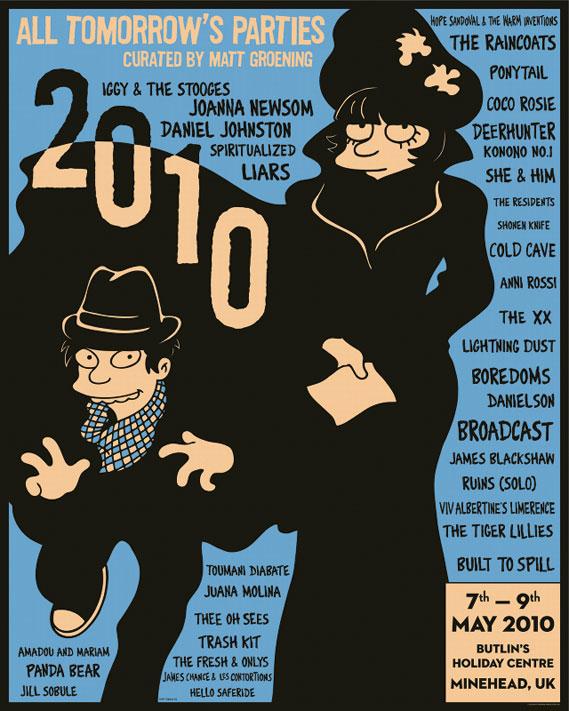 ATP UK 2010 poster by festival curator, Matt Groening - See atpfestival.com