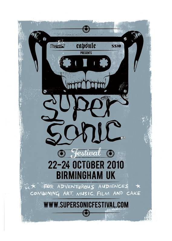 Supersonic festival poster 2010 by Heavy Object
