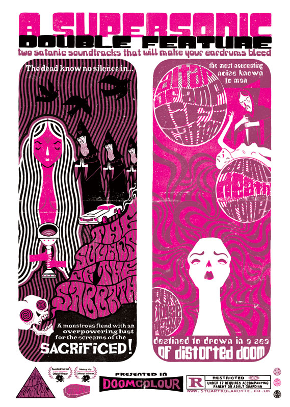 Supersonic 2009 brochure illustrations - By Stuart Kolakovic and Caroline Reerie See supersonicfestival.com