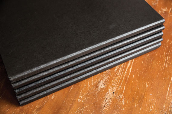 One of Handsome Frank's leather-bound A3 portfolios