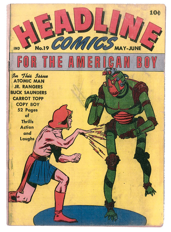 "Headline Comics' issue 19 from May-June 1946, published by Prize ""for the American boy"""