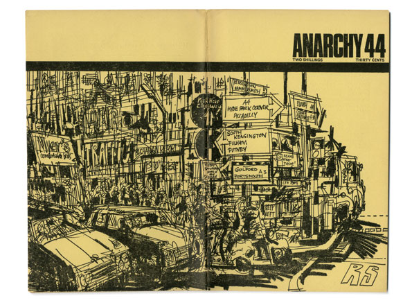Cover of issue 44 of Anarchy magazine, designed by Rufus Segar