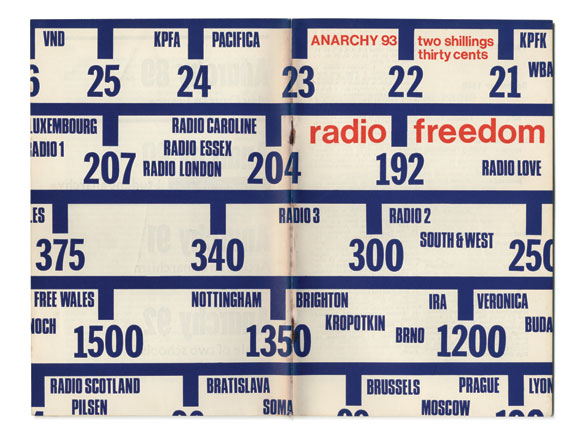 Cover of issue 93 (Radio Freedom), designed by Ivor Claydon