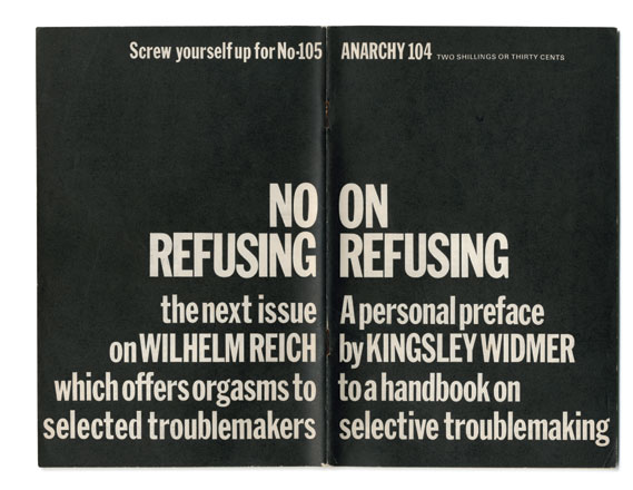 Cover of issue 104 (On Refusing), designed by Segar