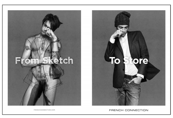 fc569_0.jpg - Rankin's French Connection campaign sketches designs onto naked models - 5545