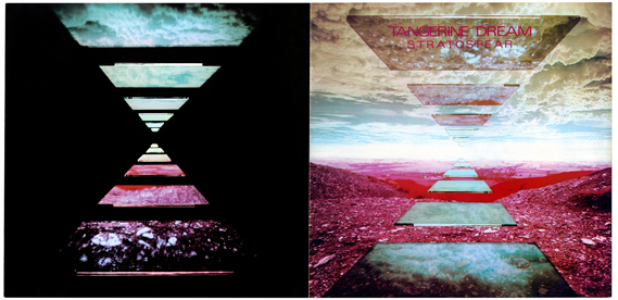Cooke Key's album artwork for Stratosfear by Tangerine Dream, the only album which the duo won an award for. The image was shot from a plane flying over the Cleveland Hills near Middlesbrough. The flying slabs were influenced by Stanley Kubrick's film, 2001: A Space Odyssey