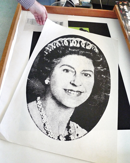 Also from Cooke's archive is this print, familiar fro the sleeve of the Sex Pistols' single God Save the Queen. This version was used as a bus poster. Photo: Daniel Benneworth-Gray