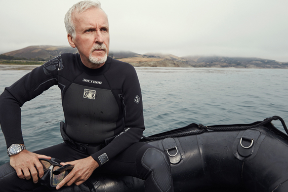 James Cameron in a recent ad campaign shot by Ebrard for Rolex