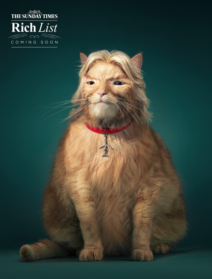 Antony Crossfield worked his magic with photographer Tim Flach's images to create a 'fat cat' version of Richard Branson in this campaign by agency Grey London