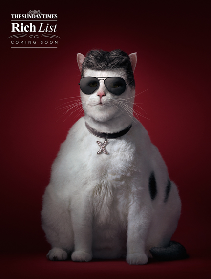 Antony Crossfield worked his magic with photographer Tim Flach's images to create a 'fat cat' version of Simon Cowell in this campaign by agency Grey London