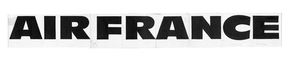 Original drawing of the Air France logotype, 1958