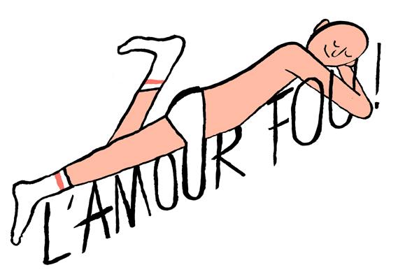 Logo for Parisian club night L'amour Fou!