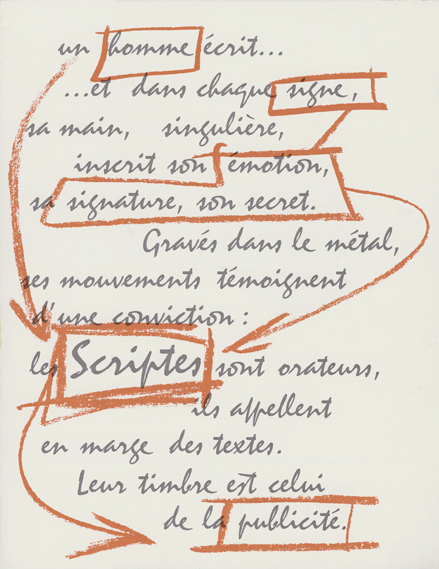 Page from Mistral type specimen, 1953