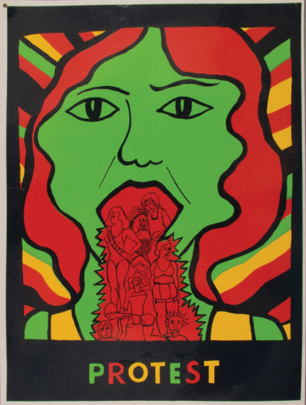 Poster produced by the See Red Women's Workshop, which was founded in 1973 by Julia Franco, Sarah Jones, Suzy Mackie and Pru Stevenson