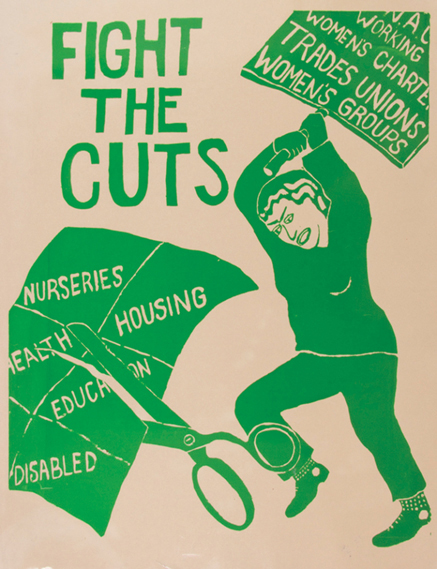 Poster produced by the See Red Women's Workshop
