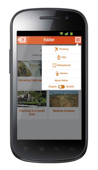 The Haller app