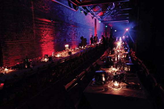 A more recent dinner-dance at Factory Seven in Shoreditch, London. (Photo: Nick Ensing)